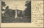 Soldiers' Monument and Ellsworth High School, Ellsworth, ME