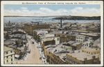 Panoramic View of Portland Looking Towards the Harbor
