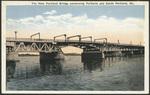 The New Portland Bridge connecting Portland and South Portland, ME