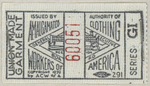"""Union Made Garment (2"""" x 1"""") label by The Amalgamated Clothing Workers of America"""