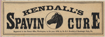 Kendall's Spavin Cure by Dr. B.J. Kendall Company