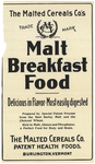 Malted Breakfast Food by Malted Cereals Company