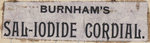 Burnham's Sal-Iodide Cordial by Ralph F. Burnham