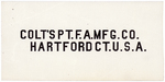 Colt's Patent Fire Arms Manufacturing Company (abbreviated) by Colt's Patent Fire Arms Manufacturing Company