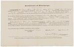 Certificate of Discharge - Kilgore, Moses Jr. by David R. Ripley
