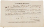 Certificate of Discharge - Hersey, Thomas by Cyrus Hersey