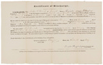 Certificate of Discharge - Herrick, Nathan F. by Traxton Dougherty