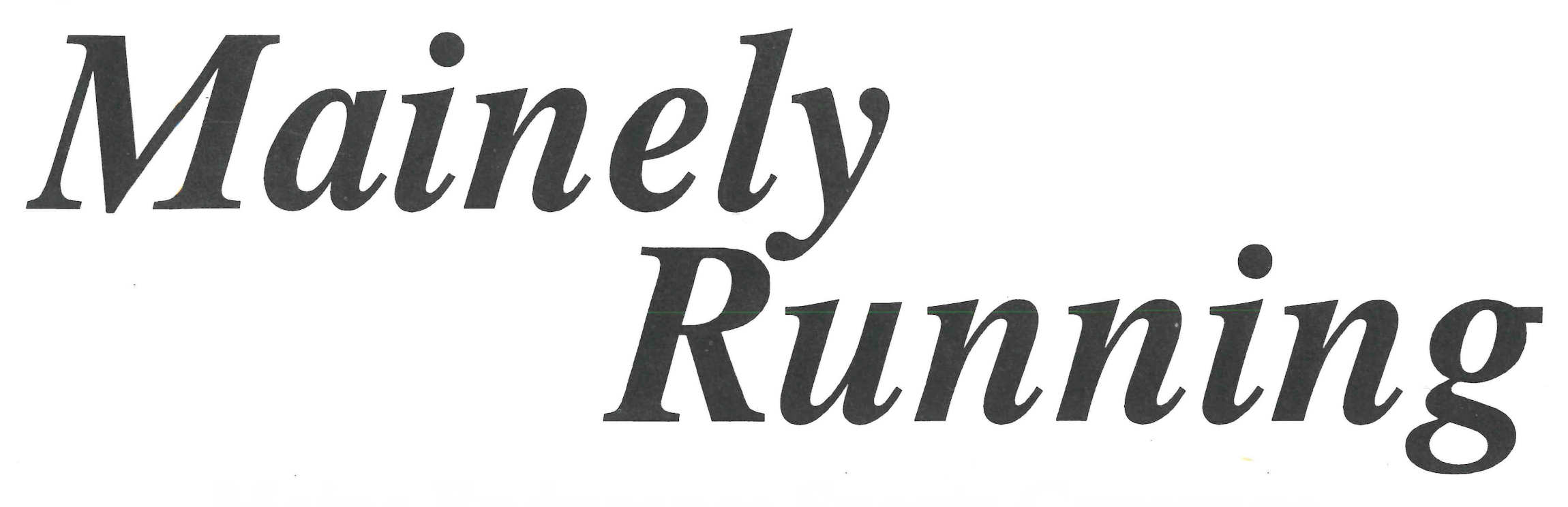 Mainely Running