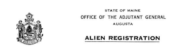 Alien Registrations