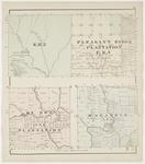 Letter 'K' R2, Masardis (T10R5), Ox Bow (T9R6) & Pleasant Ridge (Letter 'F' R1) Plantations