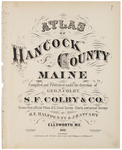 Title page of Hancock County Maine
