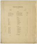 Table of Contents, Kennebec County Atlas by H. E. Halfpenny