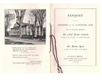 Kennebec County Bar Association Dinner 1917 by Augusta House Hotel and Kennbec Bar Association