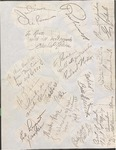 Signatures of Distinguished Visitors to the Augusta House Hotel by Augusta House Hotel