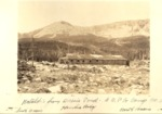 Katahdin from Basin Pond, Great Northern Paper Co, Camp No. 3. in Background, South Basin (Great Basin), Hamlin Ridge, North Basin by David Field