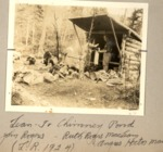 Lean-To, Chimney Pond. 1924. John Rogers, Ruth Rogers Maclean, Angus Hector Maclean. (Luther Rogers) by David Field
