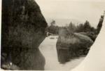 Tracy and Love Rock At Mammoth Dam, Wassataquoik by David Field