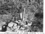 Boundary Monument At Lake Cowles, 1932 by David Field