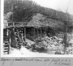 Repairing Middle Branch Dam After Freshet of 1913 (B.E. Morse) by David Field and B. E. Morse