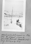 Hauling (12 Feet) Snow on This Mt. to Smart Sluice to Middle Branch, Russell Mt. Trip Feb. 18-23, 1914 by David Field