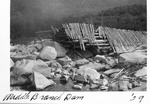 Remains of Middle Branch Dam, 1929 by David Field