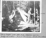 """Camp Comfort"" near Abol Slide, Katahdin, Sept. 1901. George H. Witherle (Left), Frank Mckenney (Guide). (Amy C. Witherle) by David Field and Amy C. Witherle"