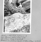 Head of Abol Slide. Entrance to Hole Through Which Trail Goes, Sept., 1901. George H. Witherle (Right) and Frank Mckenney, Guide, Patten. (Amy C. Witherle) by David Field