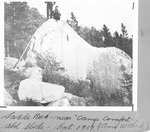 """Saddle Rock near """"Camp Comfort"""", Abol Slide, Sept., 1901. George Witherle (on Right) With Guides. (Amy Witherle) by David Field and Amy Witherle"""