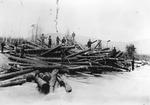 Log Jam on Wassataquoik, At the Head of Orrin Falls (L. Rogers) by David Field and L. Rogers