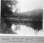 Bridge Across Hot Brook, Trail Up Wassataquoik (L. Rogers, 1900-1902) by David Field and L. Rogers