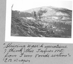 Sluicing Wass'K Operations, I Think This Turner Mt. from Twin Ponds Section. E.B. Draper by David Field and E. B. Draper