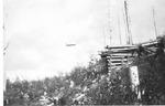 Pulpwood Flying from End of Pogy Sluice, 1914 (Ben Morse) by David Field