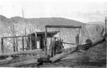 Top of Pogy Sluice, 1914 (Ben Morse) [Again, Looks Like A Cutoff Saw] by David Field