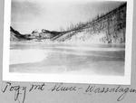 Side View of Pogy Mt. Sluice, Wassataquoik Lake by David Field
