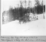 Teaming Logs, Pogy Mt. Camp, Katahdin Pulp & Paper Co, Wassataquoik Valley Me, Feb. 1914 (B.E. Morse) by David Field and B. E. Morse