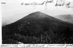 Look Toward South Peak of South Branch Mt. and Wassataquoik Mt. from North Peak of South Branch Mt. by David Field