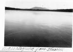 Wassataquoik Mt. from Thissell Pond by David Field