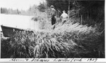 Myron Avery (Right) and J. Frank Schairer Fishing At Dwelley Pond, 1929 by David Field