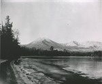 View of Mountain, Lake in the Fore Ground has begun to Ice Over