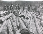 Log Drive Men with Pike Poles