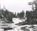 Log Drive, Logs at the Top of a Narrow Falls