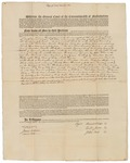 Copy of Deed Number 6 for 138,240 acres of land by Samuel Phillips, Leonard Jarvis, and John Read