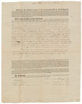 Copy of Deed Number 7 for 138,240 acres of land by Samuel Phillips, Leonard Jarvis, and John Read