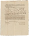 Copy of Deed Number 15 for 132,541 acres of land by Samuel Phillips, Leonard Jarvis, and John Read