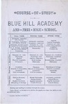 Blue Hill Academy Course of Study