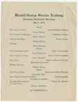 Freshman Sophomore Public Speaking Program, 1919 by Blue Hill Academy and George Stevens Academy