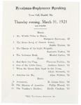 1921 Freshman and Sophomore Public Speaking Program