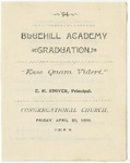 Blue Hill Academy Graduation Program, 1894 by Blue Hill Academy