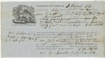 Brooksville Shipping Receipt: Moses Harissy, 1861
