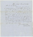 Blue Hill Shipping Receipt Letter: Ada Francis, 1853
